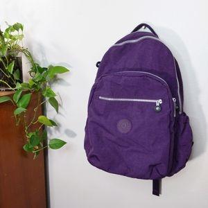 Kipling Purple Laptop Backpack